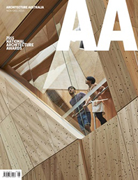 Architecture Australia September/October The Awards Issue Cover Story