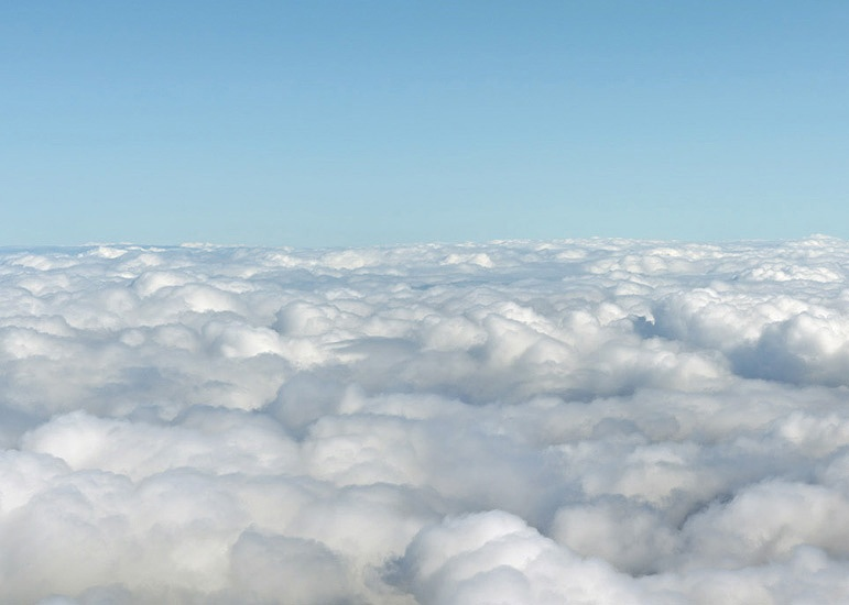 A VIEW FROM THE CLOUDS...